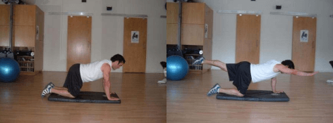 The bird dog pose is great for a bigger butt workout plan.