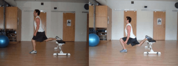Bulgarian split squats are a great bodyweight leg workout you can do at home.