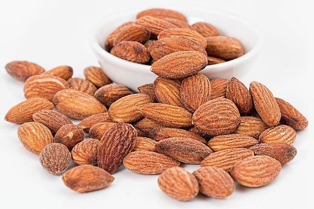 Almonds make a great healthy snack. Ideas for healthy snacks can be easy and inexpensive.
