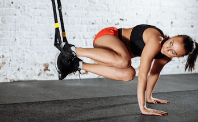 """Often I hear, """"can you build muscles with TRX?"""" Yes, any suspension exercises can build muscle if done correctly."""