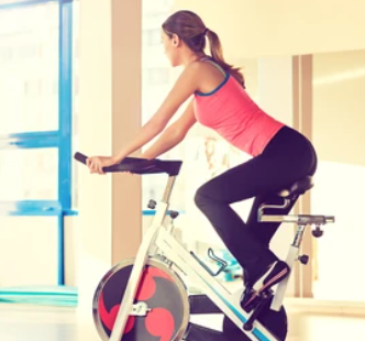 Spin bikes are great cardio workouts.