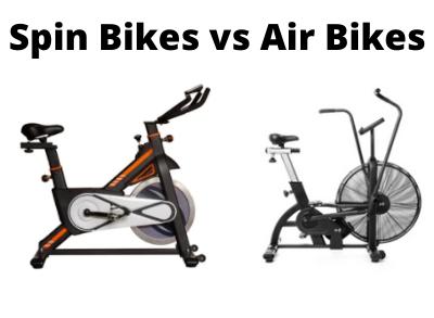 Spin bikes vs air bikes